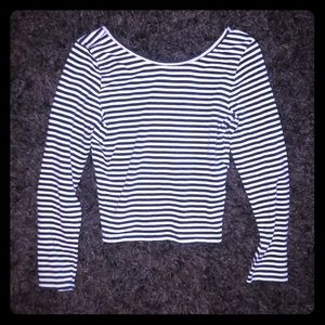Abercrombie Girls Long Sleeve Crop Top Size 12